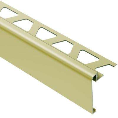 Rondec-Step Satin Brass Anodized Aluminum 1/2 in. x 8 ft. 2-1/2 in. Metal Tile Edging Trim