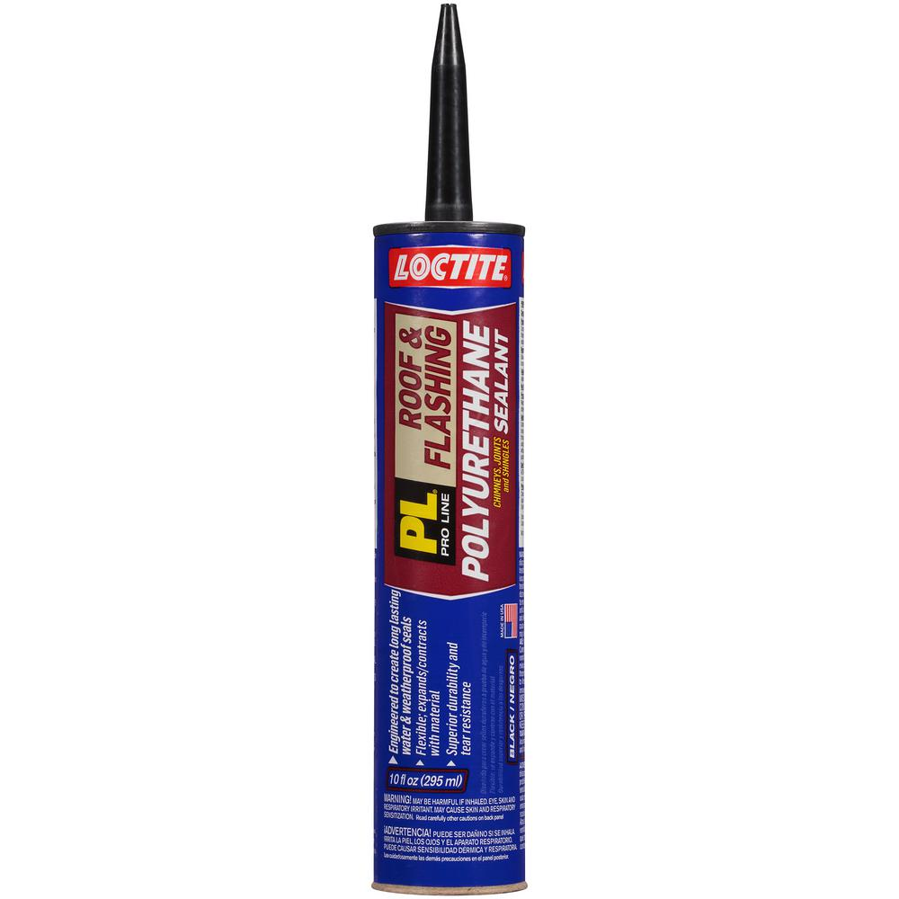 PL 10 fl. oz. Black Polyurethane Roof and Flashing Sealant (12-Pack)