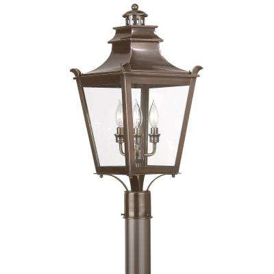 Dorchester 3-Light Outdoor English Bronze Post Light