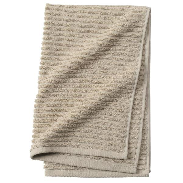 Home Decorators Collection Monterey 1-Piece Ribbed Turkish Hand Towel in Latte