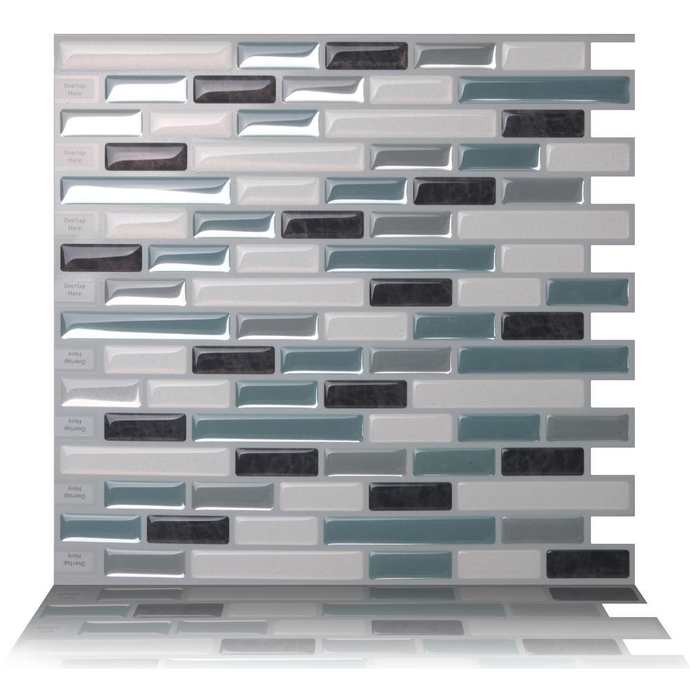 - Tic Tac Tiles Como Marrone 10 In. W X 10 In. H Peel And Stick Self