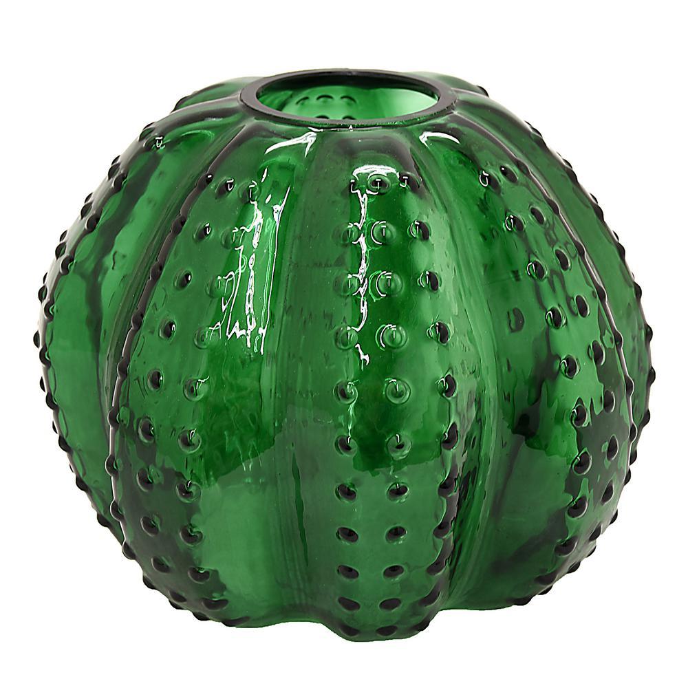 7.25 in. Green Glass Hurricane