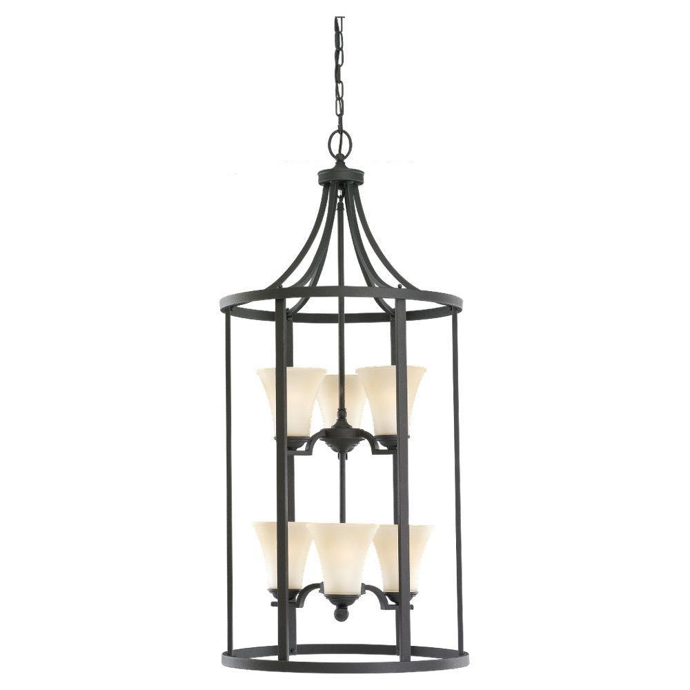 Sea Gull Lighting Somerton 6-Light Blacksmith Hall-Foyer Pendant