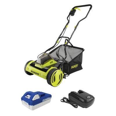 24-Volt iON Plus Cordless Push Reel Mower Kit with 4.0 Ah Battery and Charger