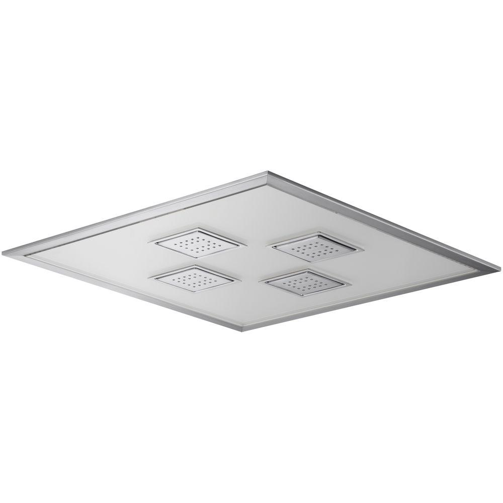 KOHLER WaterTile Ambient Rain 1-spray Single Function 21 in. Overhead Showerhead in Brushed Chrome