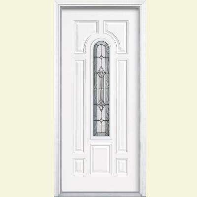 White 7 Panel Single Door Fiberglass Doors Front Doors The