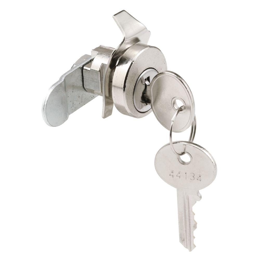 Prime-Line 5-Pin Bommer Nickel Counter-Clockwise Mail Box Lock with Dust Cover
