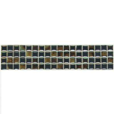 Fashion Accents Umber 3 in. x 12 in. Illumini Accent Mosaic Wall Tile (0.2 sq. ft. / piece)