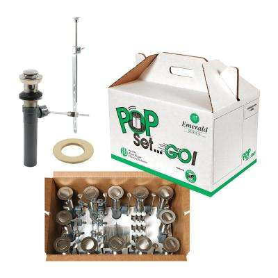 Pop Set Go Kit Satin/Brushed Nickel with Putty