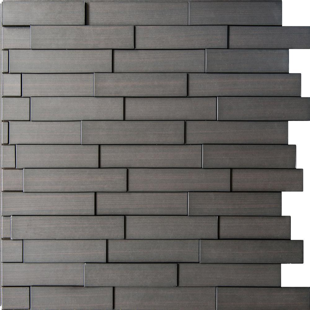 Piano Steps 24 in. x 24 in. Dark Okasha PVC Wall Panel