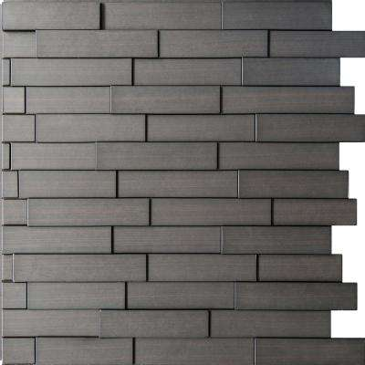 Piano Steps 24 in. x 24 in. Dark Okasha PVC Wall Panel