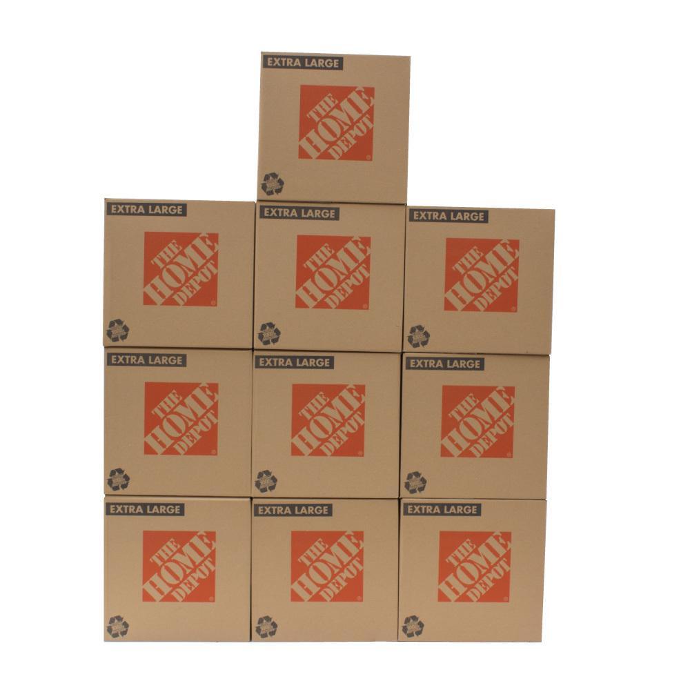 The Home Depot 22 in. L x 22 in. W x 21 in. D Extra-Large Moving Box (10-Pack)