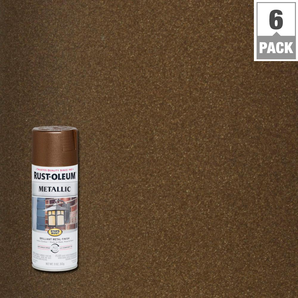 11 oz. Vintage Metallic Dark Copper Protective Enamel Spray Paint (6-Pack)