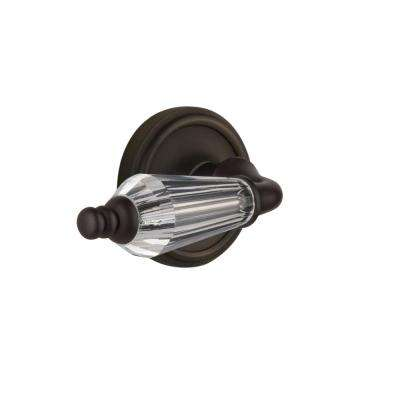 Classic Rosette 2-3/4 in. Backset Oil-Rubbed Bronze Privacy Bed/Bath Parlor Lever