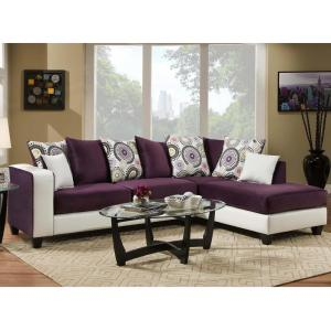 Awesome Riverstone Implosion Purple Velvet Sectional Ibusinesslaw Wood Chair Design Ideas Ibusinesslaworg