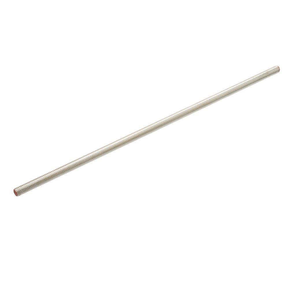 Everbilt 1/4 in. x 24 in. Zinc Threaded Rod