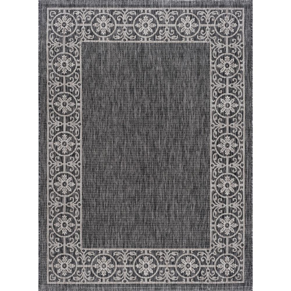 Veranda Black 8 Ft X 10 Indoor Outdoor Area Rug