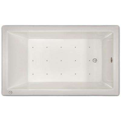 4.96 ft. Left Drain Drop-in Rectangular Whirlpool and Air Bath Tub in White