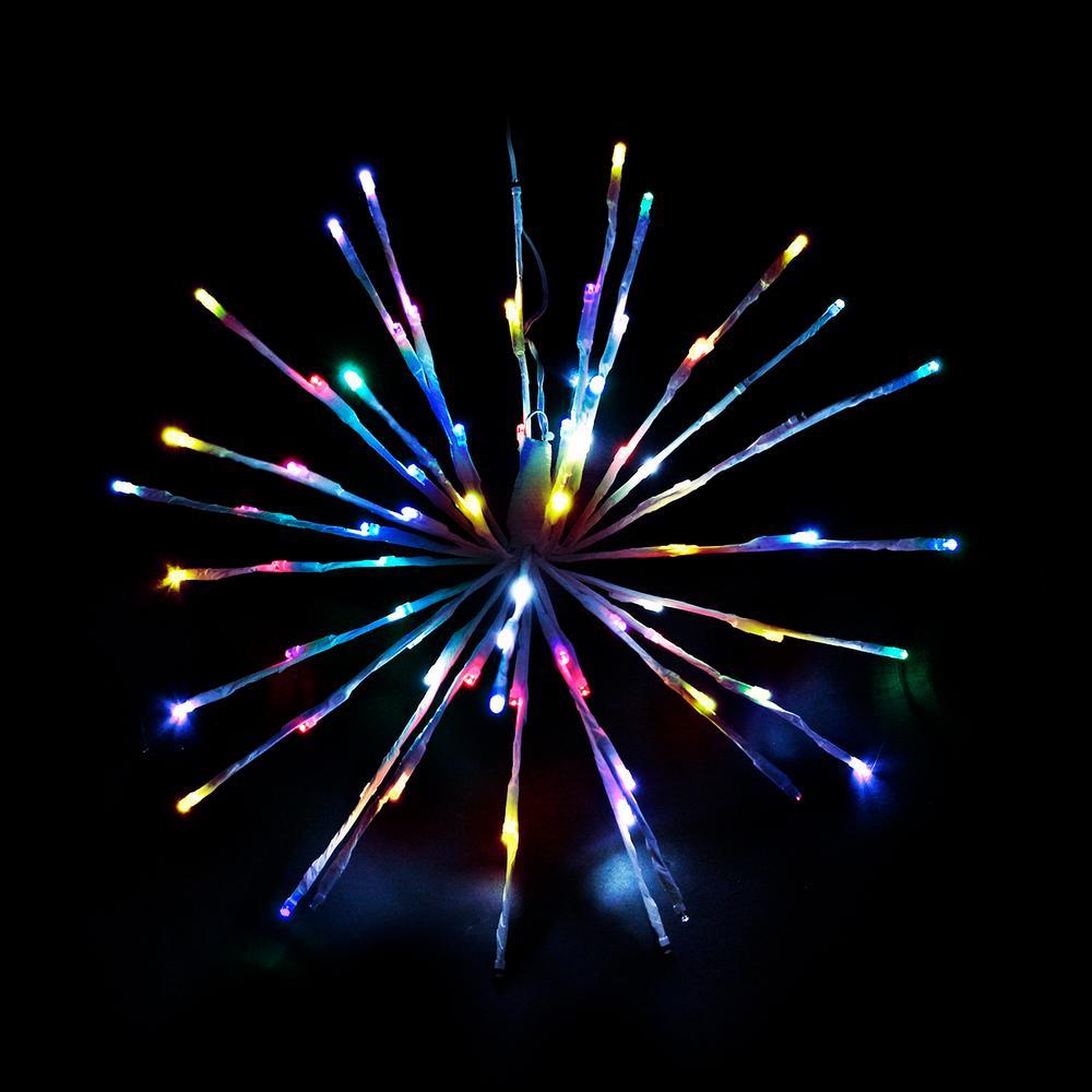16 in. Multi LED Christmas Spritzer