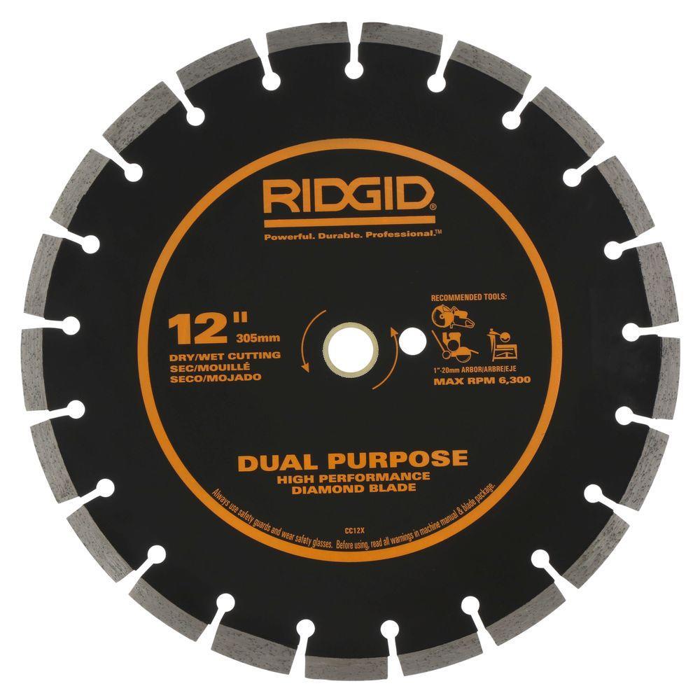 RIDGID 12 in. Dual-Purpose Diamond Blade