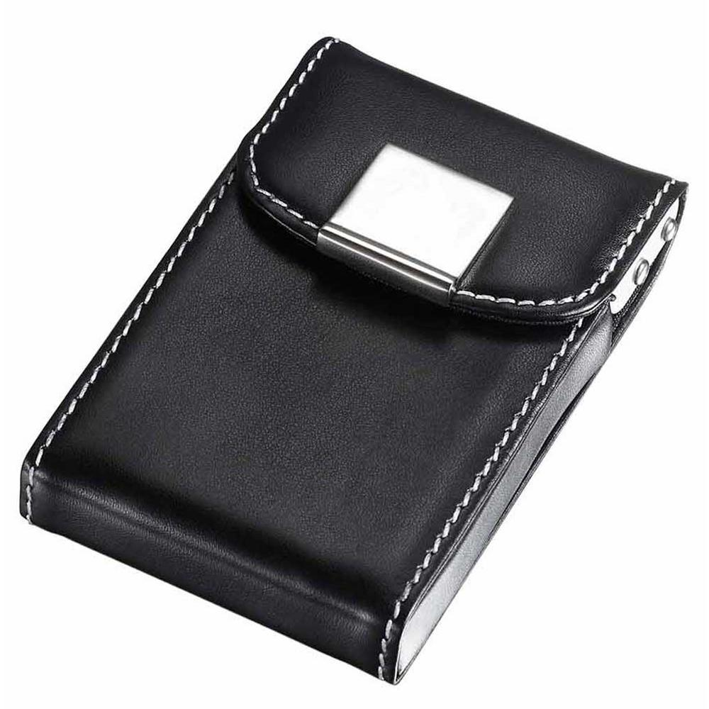 Visol Pristine Leatherette and Aluminum Business Card Case-V608B ...
