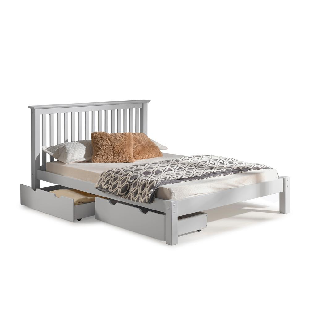 Dove Gray Queen Bed Storage Drawers Barcelona