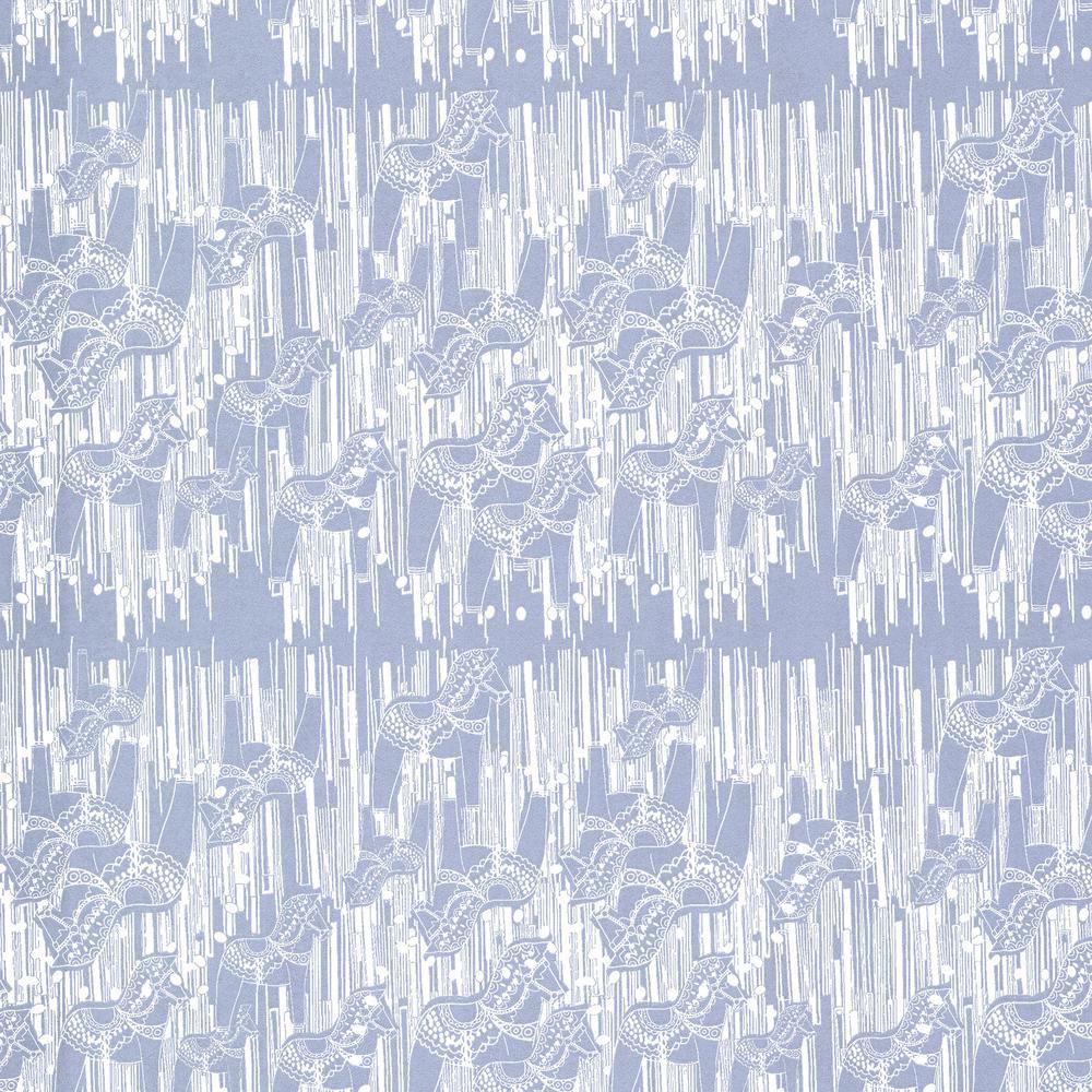 Dala Blue Horse Wallpaper Sample
