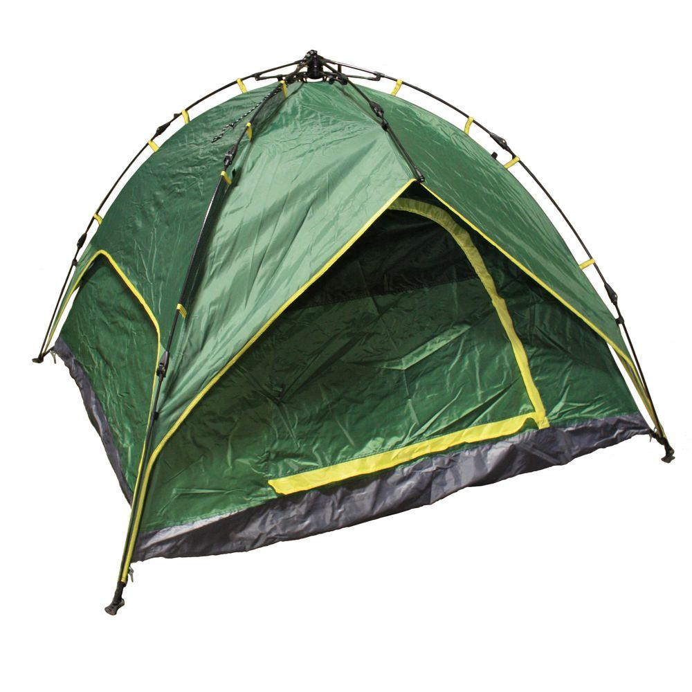 3-4 Person Foldable Dome C&ing Green Tent  sc 1 st  The Home Depot & Coleman Evanston 6-Person Screened Modified Dome Tent-2000007825 ...
