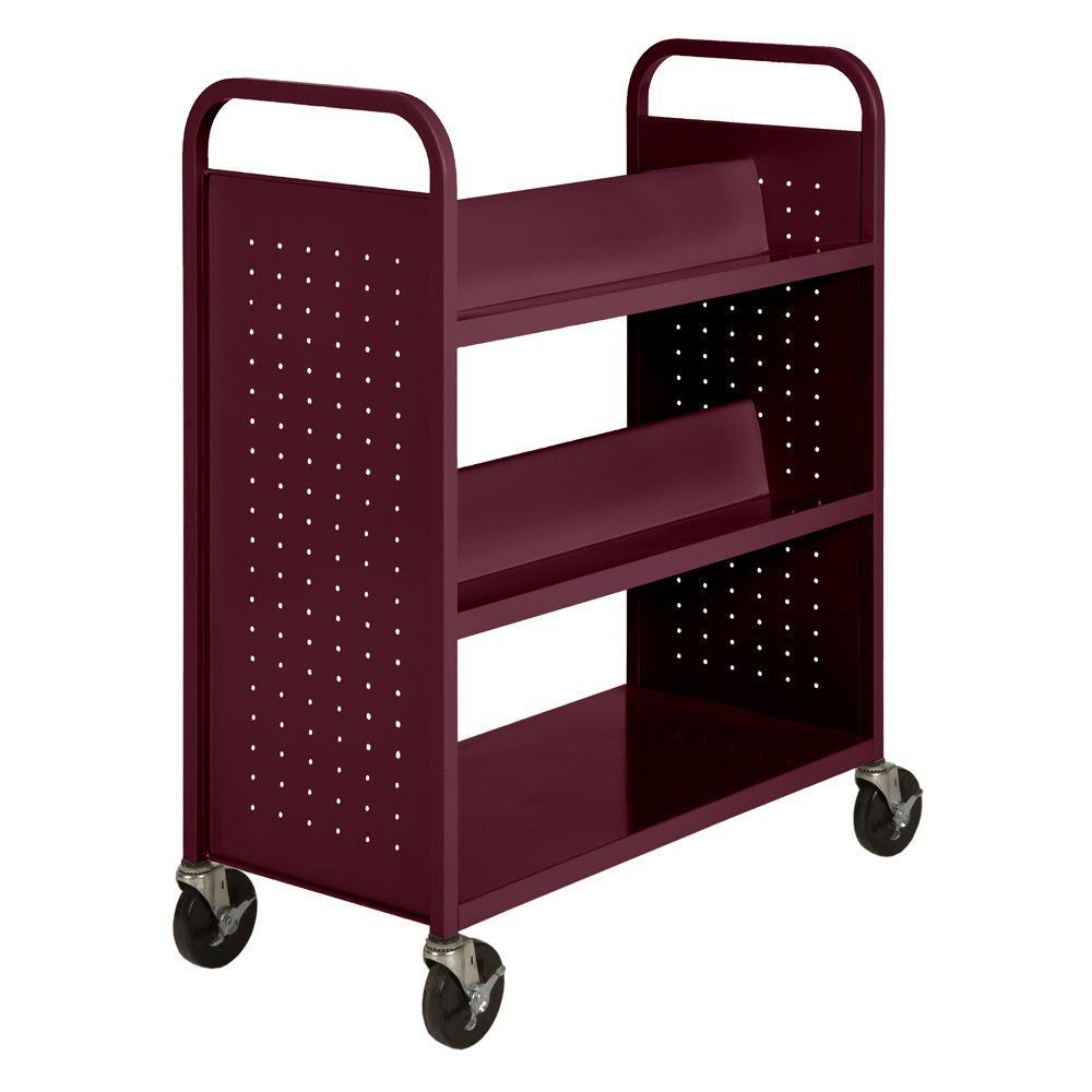 Sandusky Lee Burgundy (Red) Mobile Steel Bookcase