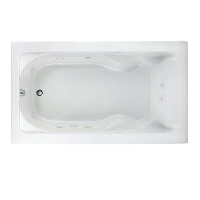 Cadet EverClean 72 in . x 42 in. Whirlpool Tub in White