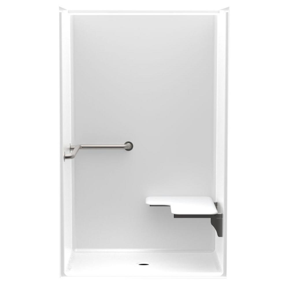 Accessible Smooth Wall AcrylX 48 in. x 36 in. x 75