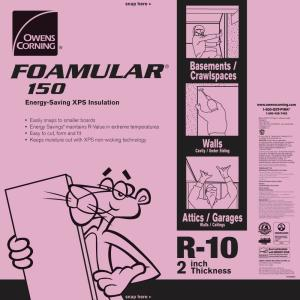 Owens Corning FOAMULAR 150 2 in. x 4 ft. x 8 ft. R-10