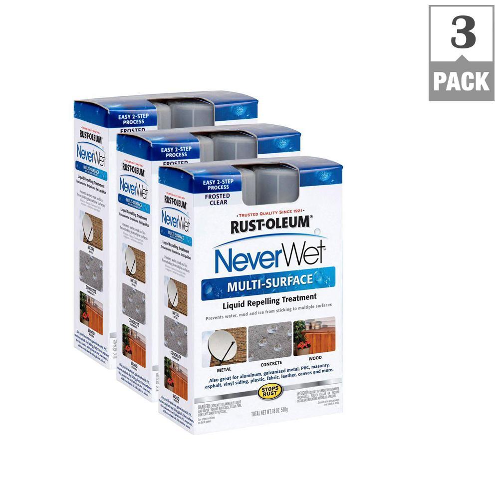 Rust-Oleum NeverWet 18 oz. NeverWet Multi-Purpose Spray Paint Kit (3-Pack)