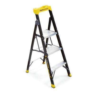 4.5 ft. Fiberglass Hybrid Ladder with 250 lb. Load Capacity Type I Duty Rating