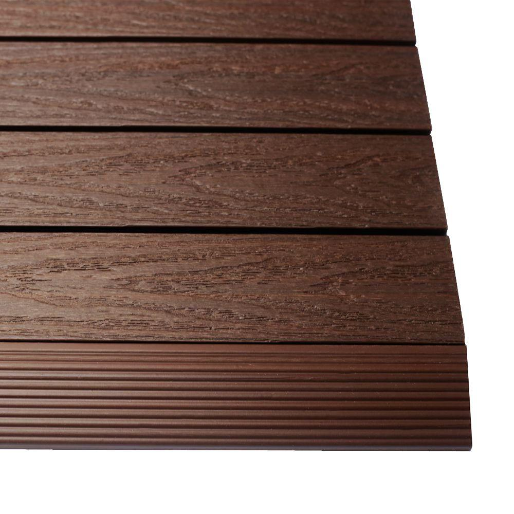 1/6 ft. x 1 ft. Quick Deck Composite Deck Tile Straight