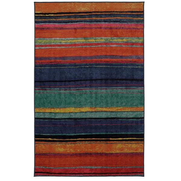 Mohawk Home Rainbow Kaleidoscope 5 Ft X 8 Ft Area Rug 521462 The Home Depot