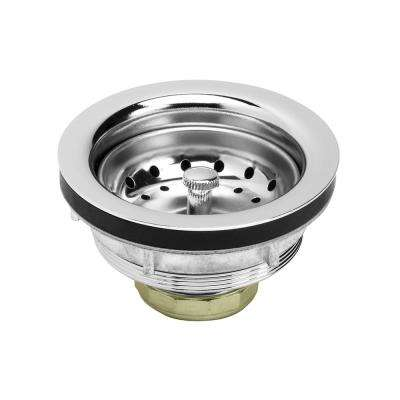 3-1/2 in. - 4 in. Kitchen Sink Stainless Steel Drain Assembly with Strainer Basket Stopper