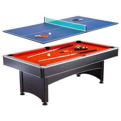 Maverick 7 ft. Pool and Table Tennis Multi Game Set with Cues, Paddles and Balls