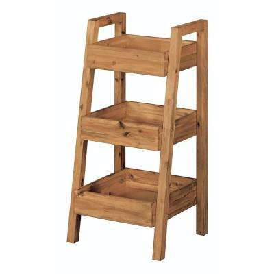 Bredon 16 4/5 in. L x 37 in. H x 18 in. W Freestanding 3-Tier Bathroom Shelf in Rustic Natural