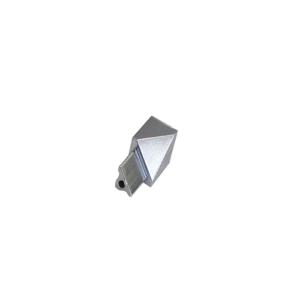 Inside Angle Novobisel Mirror Bright 3/8 in. Complement Aluminum Tile Edging Trim