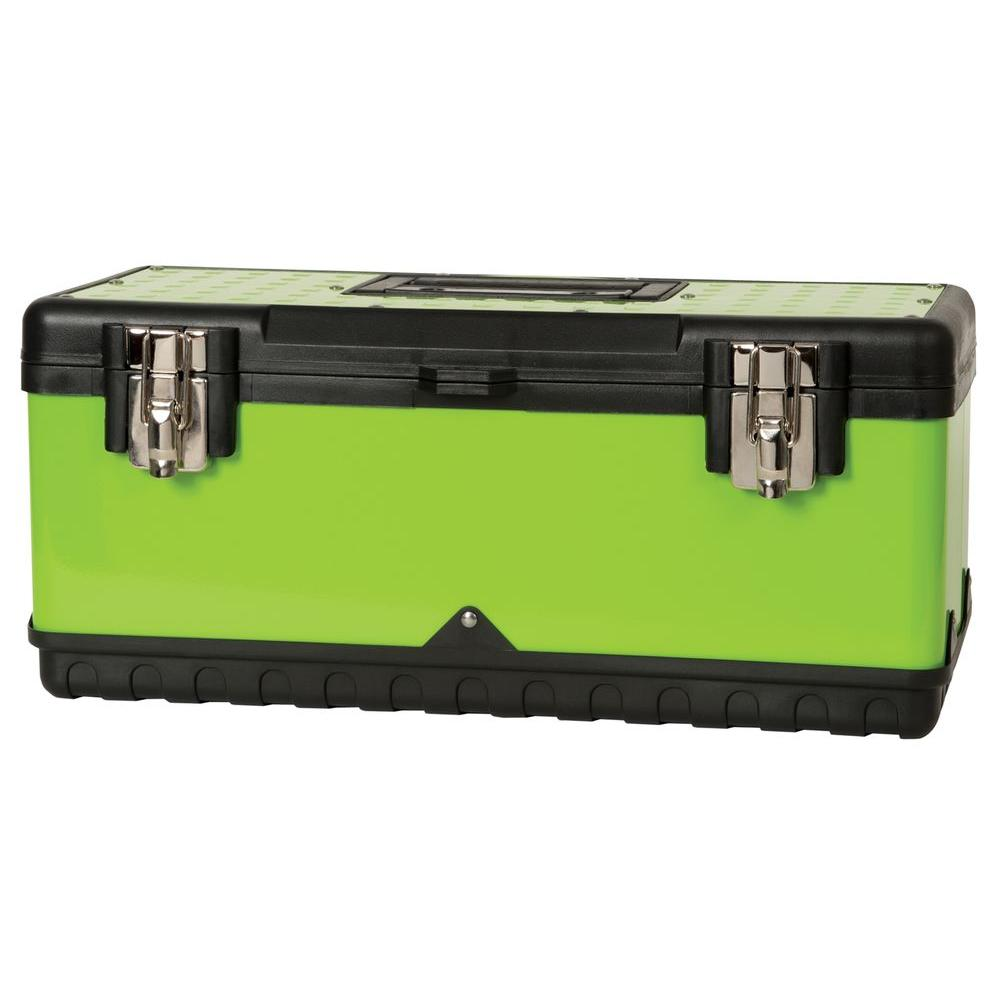 Viper 20 in. Steel Tool Box in Lime Green