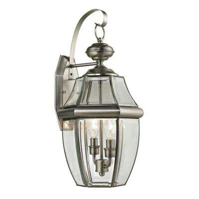 Ashford 2-Light Outdoor Brushed Nickel Sconce