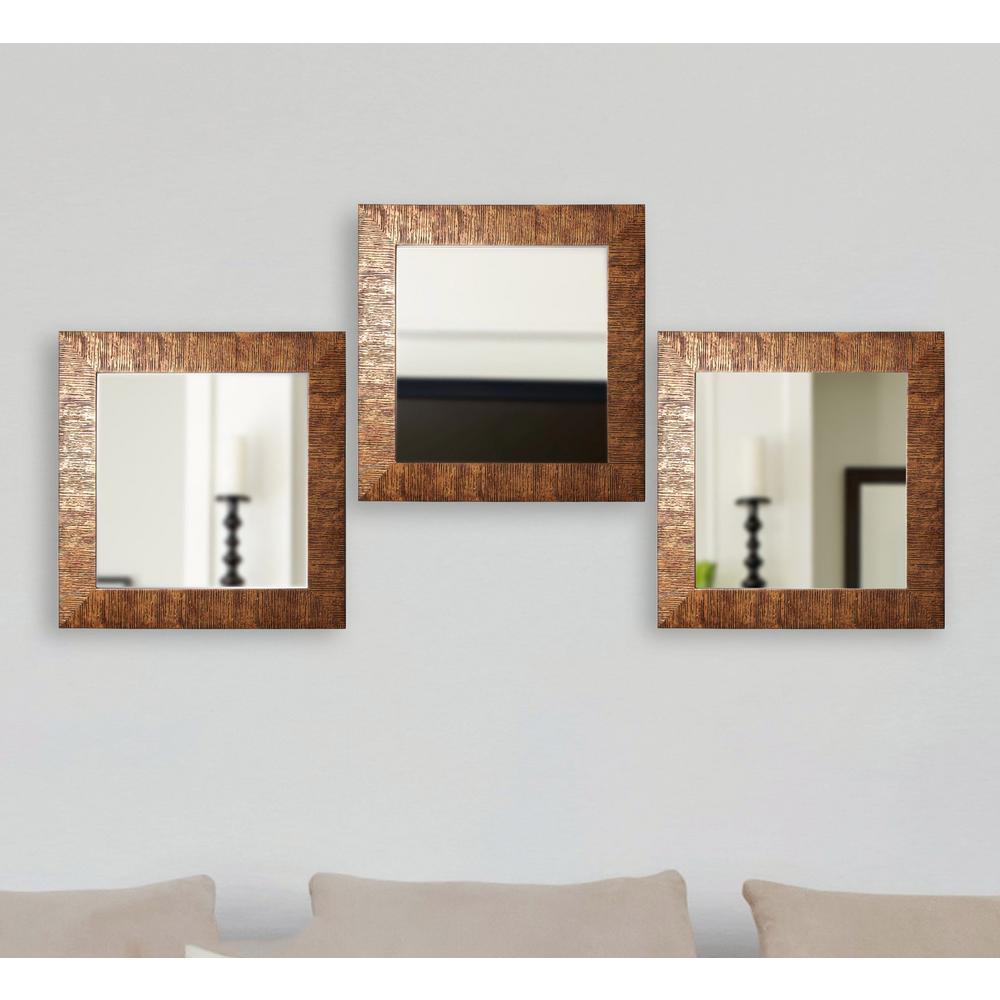 19.5 in. x 19.5 in. Safari Bronze Square Wall Mirrors (Set of 3 ...