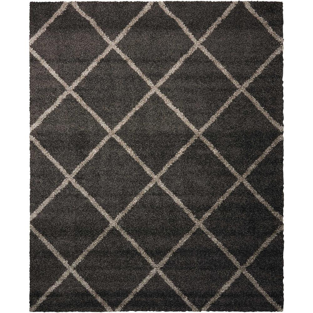 Nourison Brisbane Shag Charcoal 8 Ft X 10 Area Rug