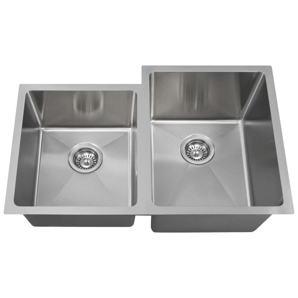 stainless kitchen sinks undermount mr direct undermount stainless steel 31 in bowl 5712