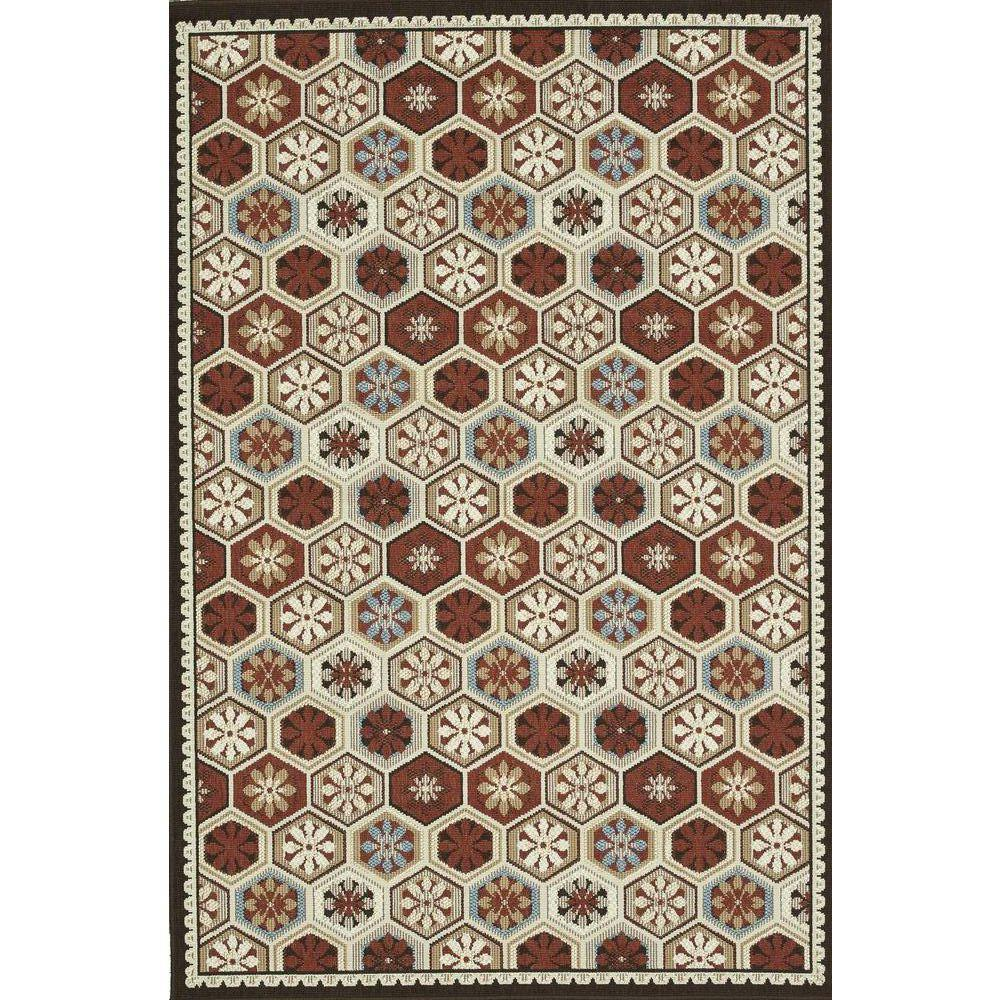 Loloi Rugs Augusta Lifestyle Collection Multi 5 ft. 2 in. x 7 ft. 5 in. Area Rug-DISCONTINUED