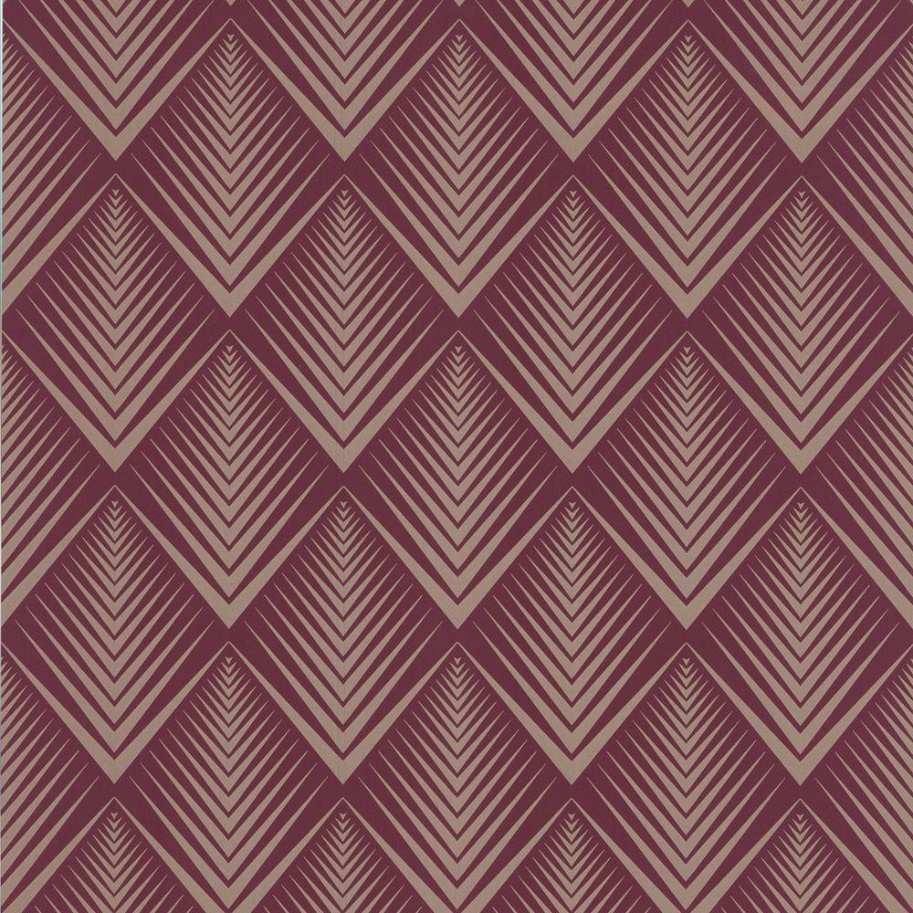 Graham & Brown 56 sq. ft. Soprano Purple Wallpaper