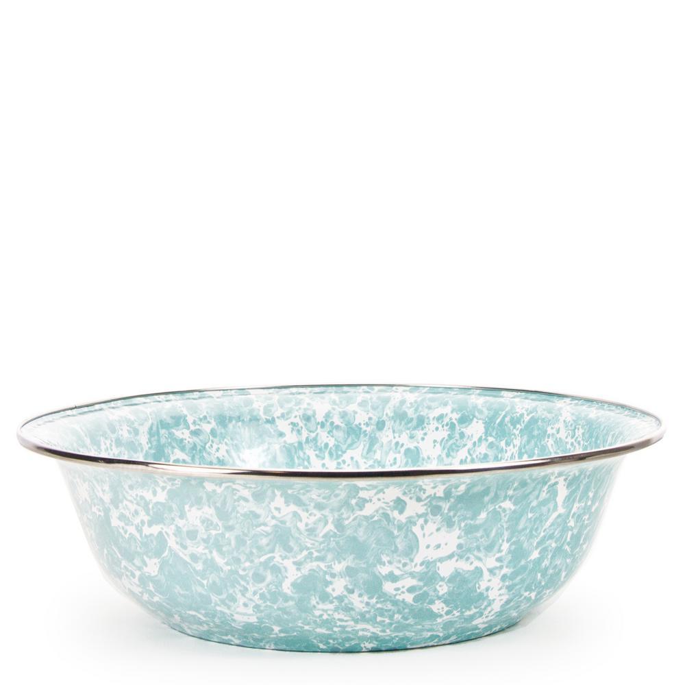Golden Rabbit Sea Glass 4 qt. Enamelware Round Serving Bowl GL03