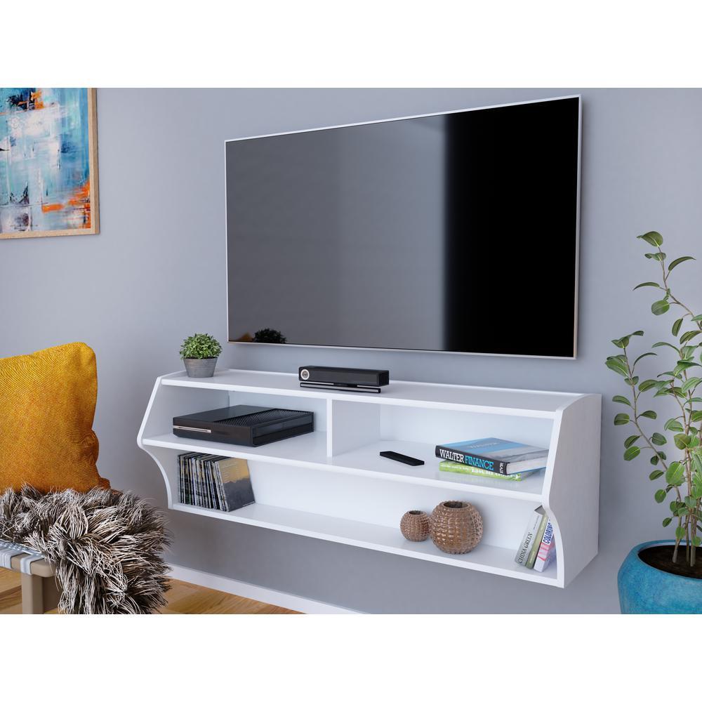 Altus White Laminate Media Storage