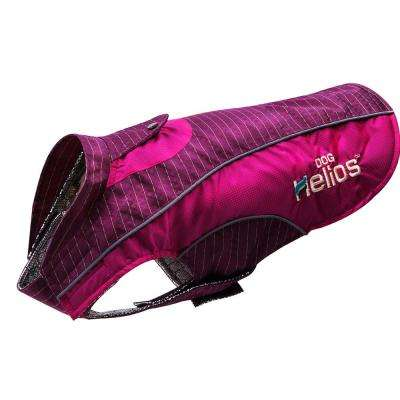 Large Pink and Purple Reflecta-Bolt Sporty Performance Waterproof Pet Dog Coat Jacket With Blackshark Technology